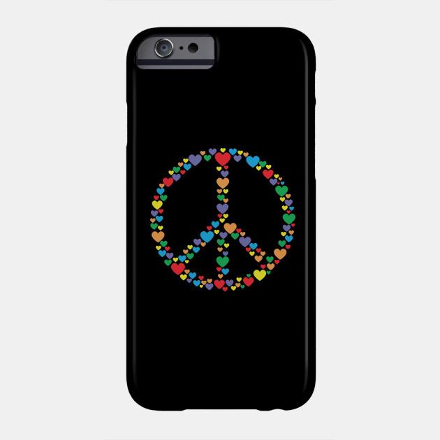 Peace Sign Symbol Love Hearts Peace Sign Phone Case Teepublic
