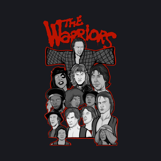 the Warriors 35th Anniversary collage art