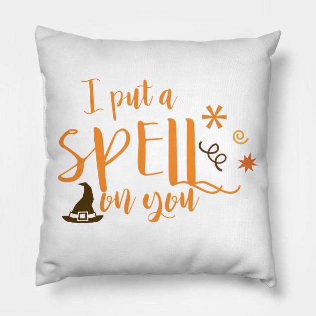 i put a spell on you halloween pillow teepublic