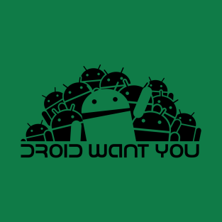Droid Group want You (black) t-shirts