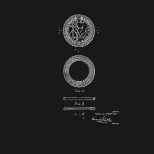 5df6e74cd interlocking poker chip Vintage Patent Hand Drawing T-Shirt