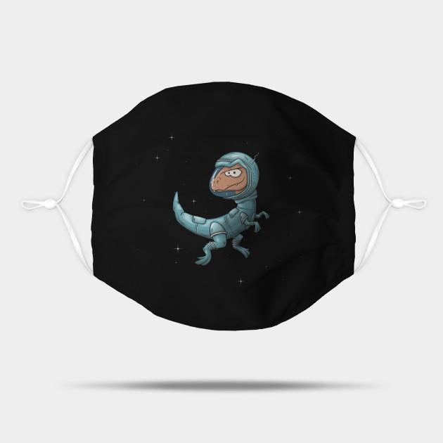 Velociraptor Astronaut Dino Raptor in Outer Space