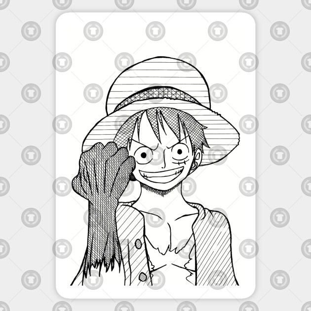 Strawhat Luffy Lineart