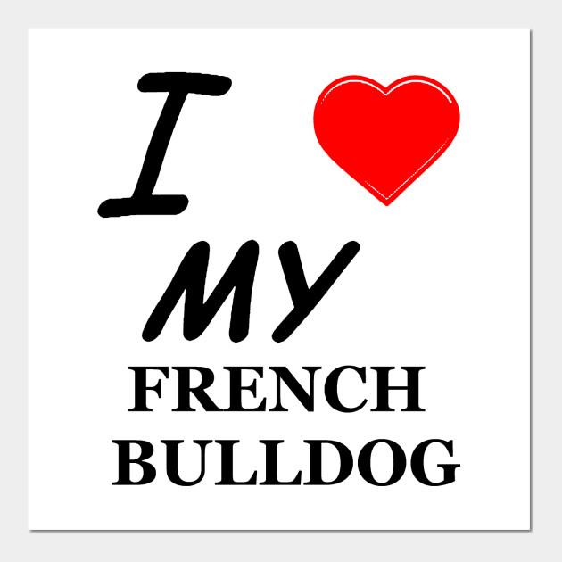 Fb Love French Bulldog Wall Art Teepublic