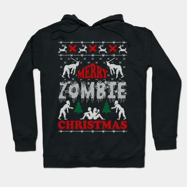 Zombie Christmas Sweater.Merry Zombie Christmas Ugly Sweater