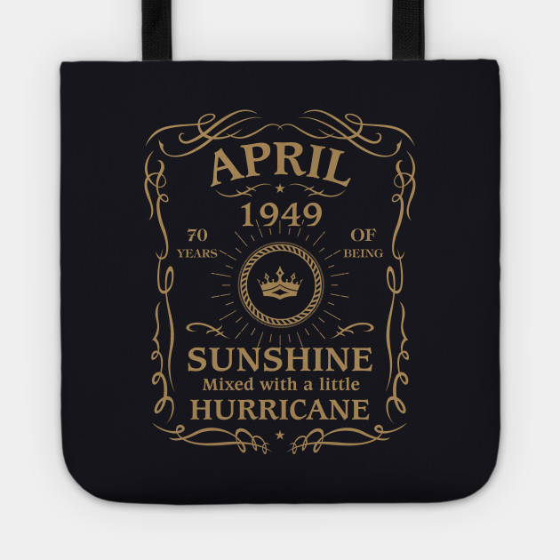 April 1949 Sunshine Mixed With A Little Hurricane Tote