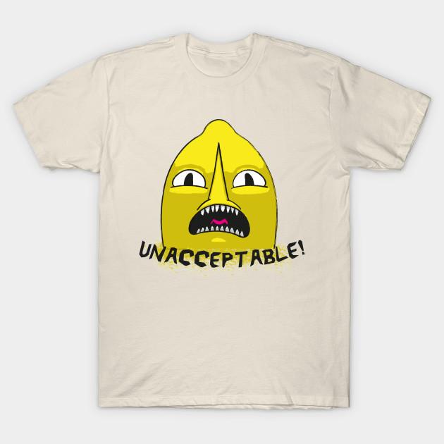Lemongrab Unacceptable T Shirt Adventure Time T