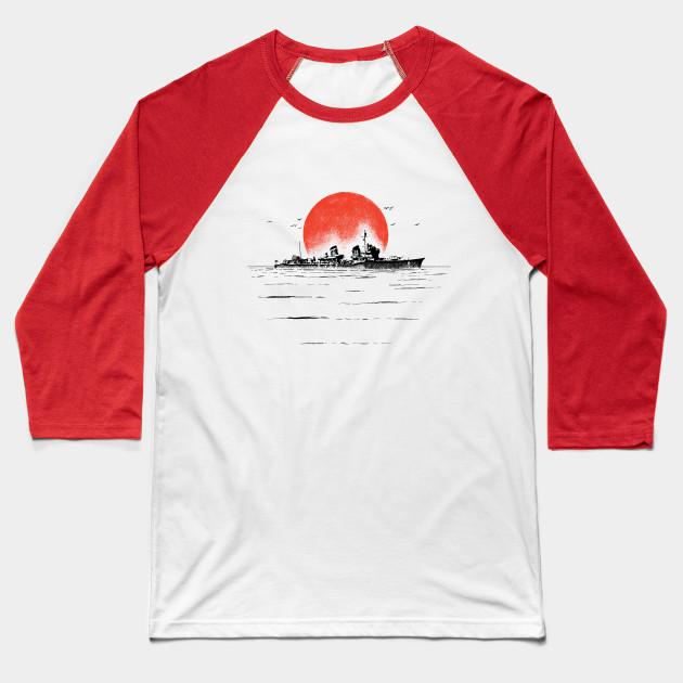 baf8f8811 Japanese Ship - Ww2 - Baseball T-Shirt | TeePublic