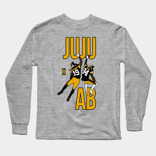 fa2dd6d39 Juju Smith Schuster and Antonio Brown  JUJU X AB  - Pittsburgh Steelers  Iconic Duo Long Sleeve T-Shirt