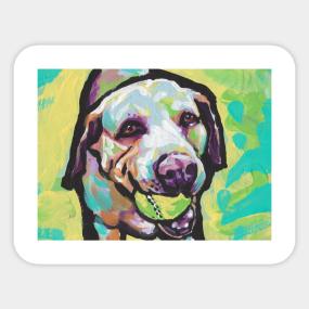 Yellow Labrador Retriever Stickers | TeePublic