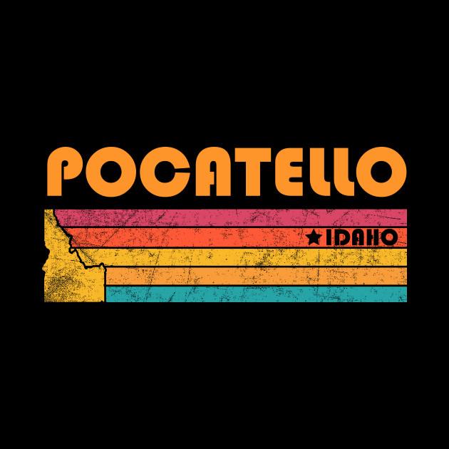 Pocatello Idaho Vintage Distressed Souvenir