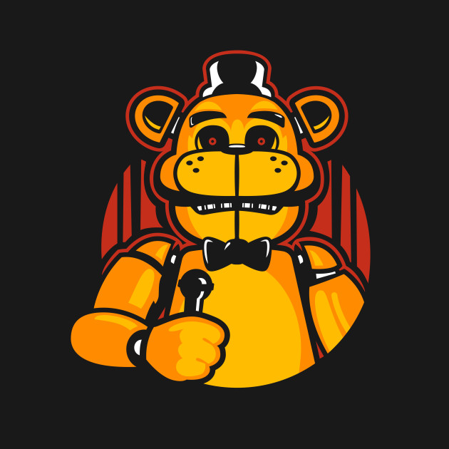 Golden Freddy Over Black
