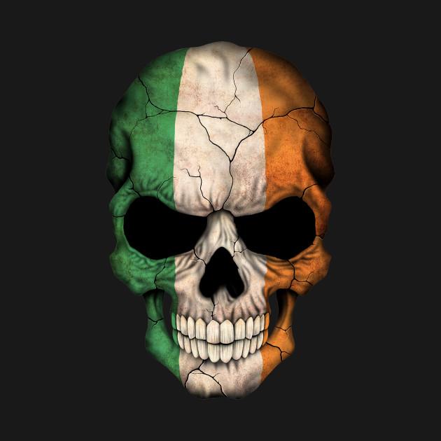 irish flag skull ireland t shirt teepublic