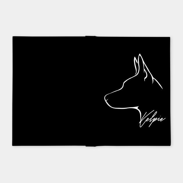 Proud Australian Kelpie profile dog lover gift - Kelpie