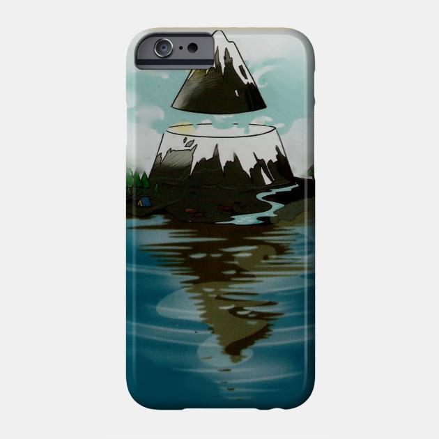 Flooded mountain