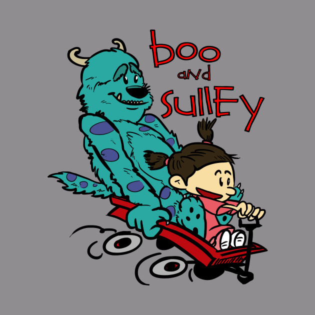 266ca0299 Boo and Sulley as Calvin and Hobbes - Monsters Inc - Hoodie | TeePublic