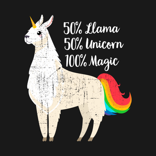 50%Llama 50%Unciorn 100% Magic