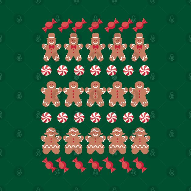 Gingerbread Men Cookies Ugly Christmas Sweater