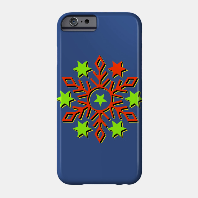 Snowflake colorful big, ugly christmas, christmas Phone Case