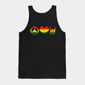 1e7050c464af97 Peace Love Rock and Roll Rasta Reggae Tank Top