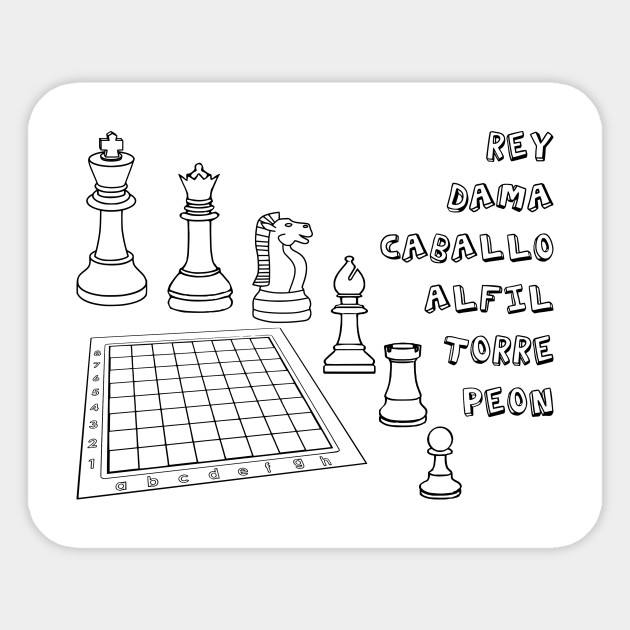 Limited Edition Exclusive Chess Coloring Book Dibujo Ajedrez Para Colorear 1