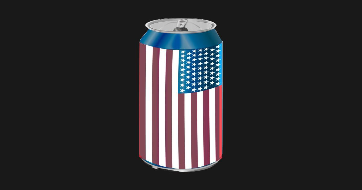 Beer Can American Flag - Proud American Patriot Design by freshdressedtees