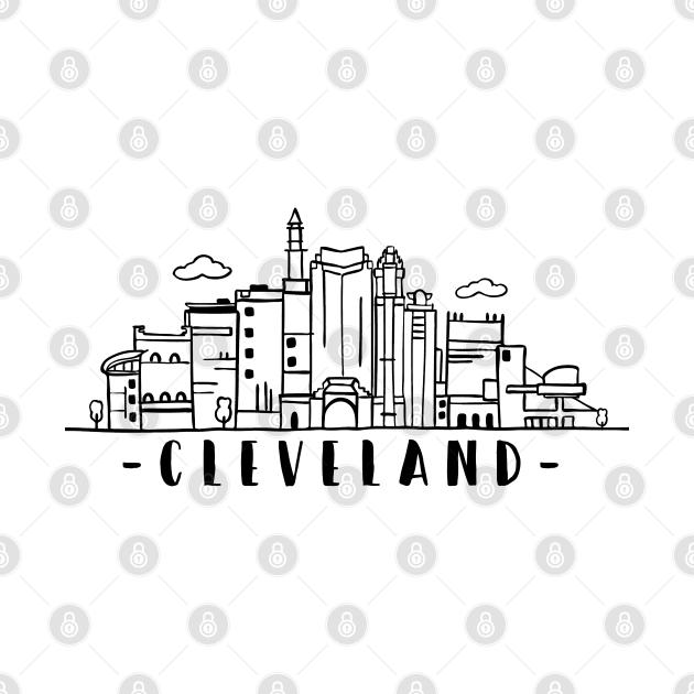 Cleveland Ohio Skyline Cityscape Travel