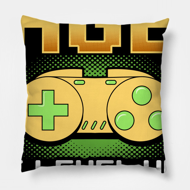 Funny Level Up Birthday Print Gift For Gamer Boyfriend Pillow