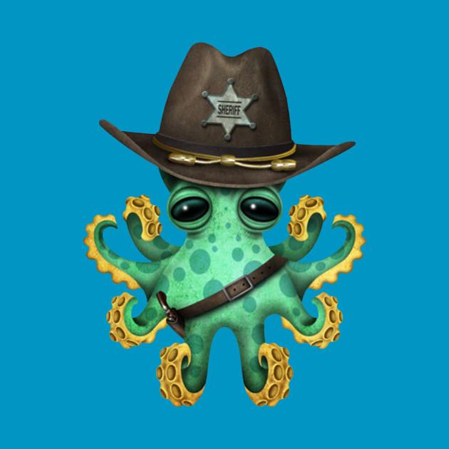 Cute Baby Octopus Sheriff