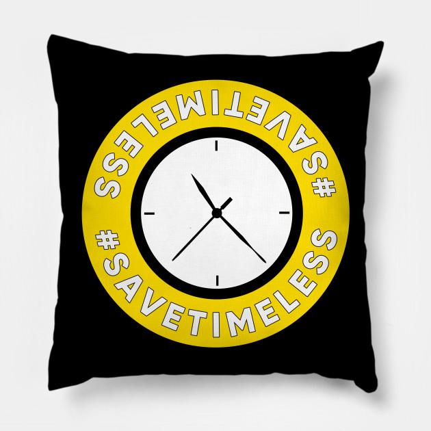 save timeless clock logo timeless pillow teepublic