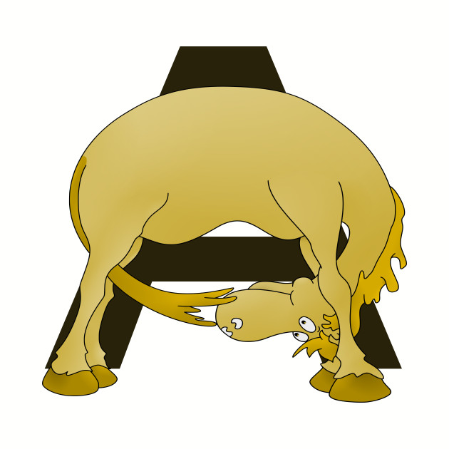 Pony Monogram Letter A