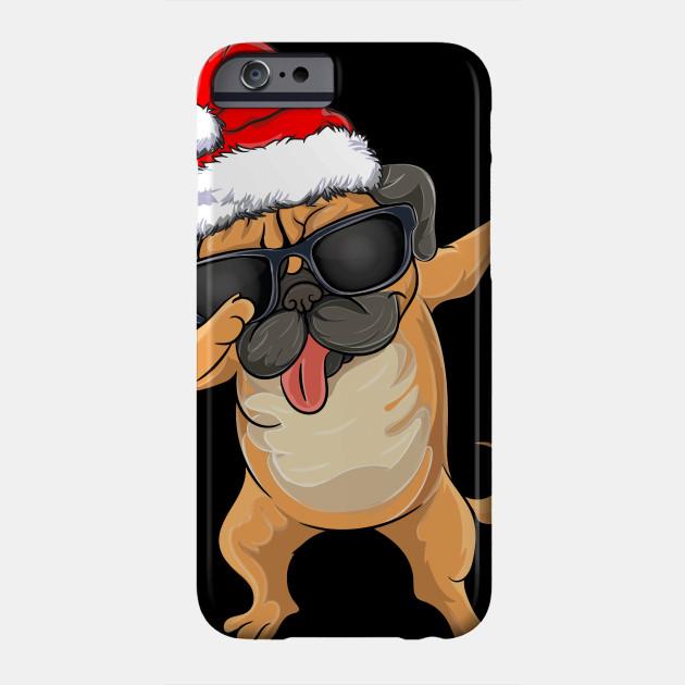 Christmas apparel Dabbing Pug Cute Funny Dog Dab Phone Case