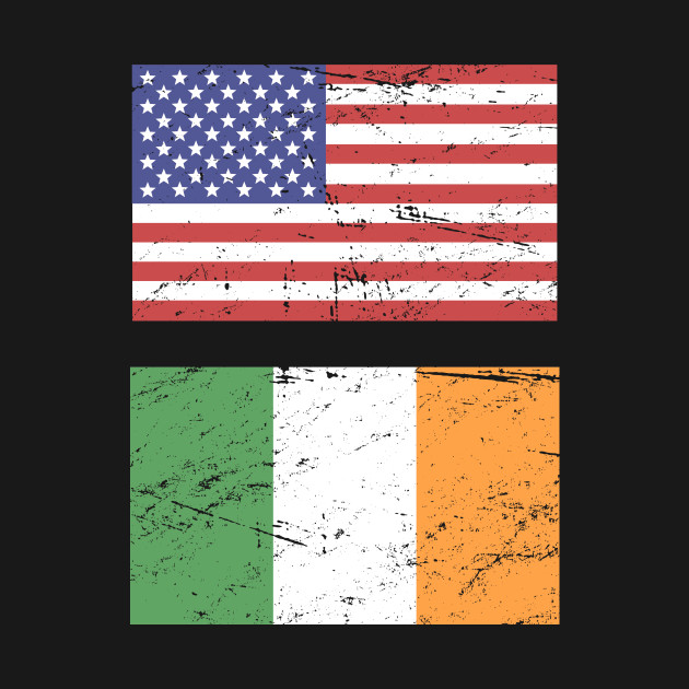 United States Flag & Republic Of Ireland Flag