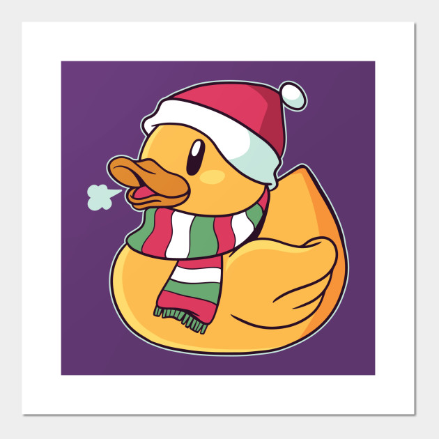 Christmas Duck With Santa Hat Gift For Rubber Ducks Lover