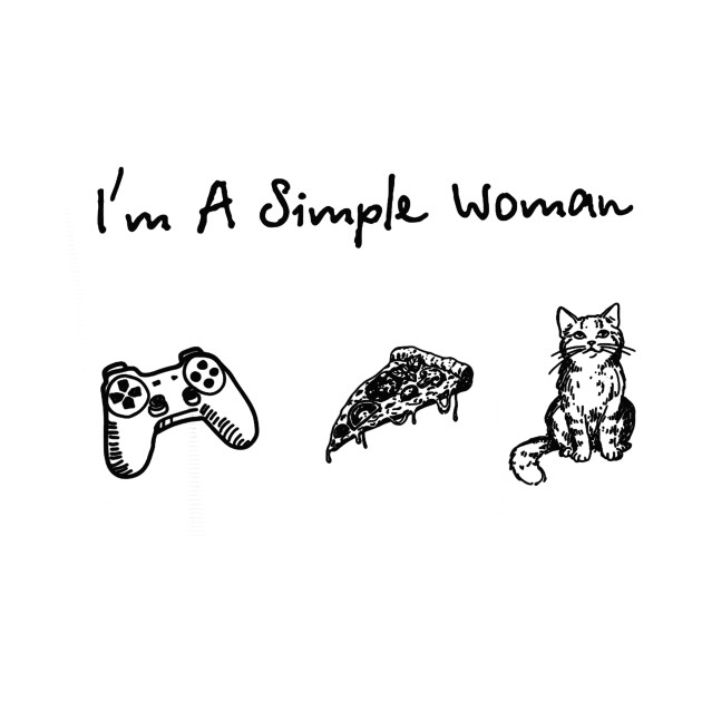 I_m a simple woman game pizza cat