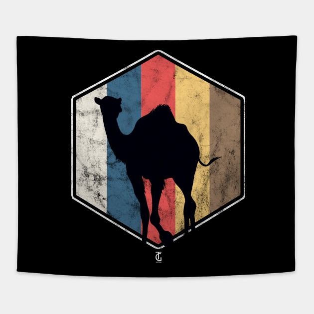more photos d3a7d ad3f3 Retro Vintage Camel Hexagon Tapestry