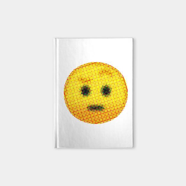 Emoji Suspicious Face With Raised Eyebrow Emojis Notebook