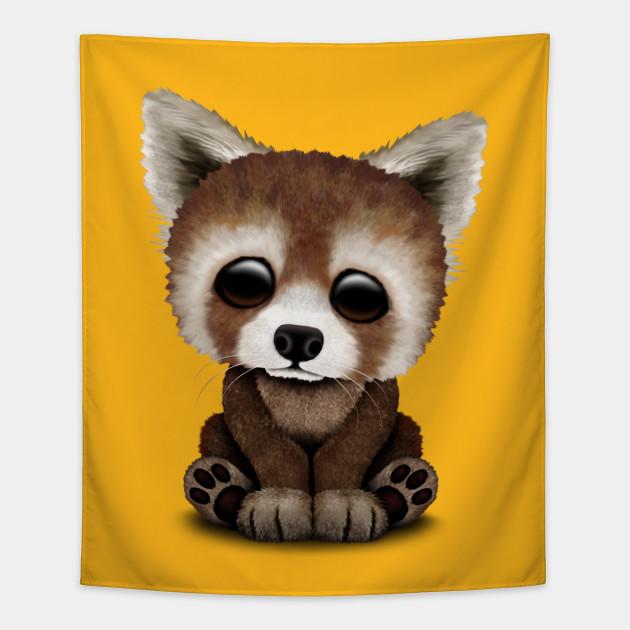 Cute Baby Red Panda Red Panda Tapestry Teepublic