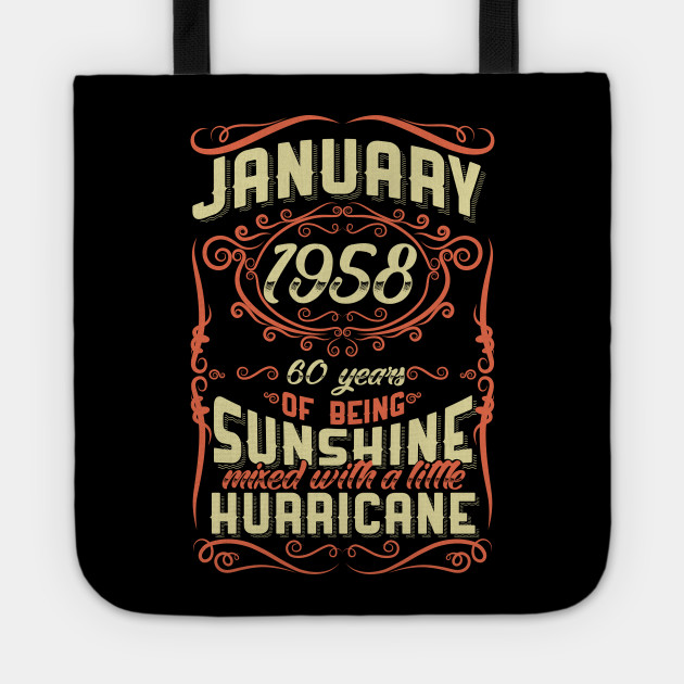 January 1958 60th Birthday Gift Tote