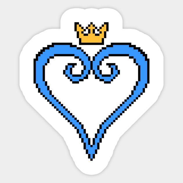 Kingdom Hearts 8 Bit Pixel Art Logo