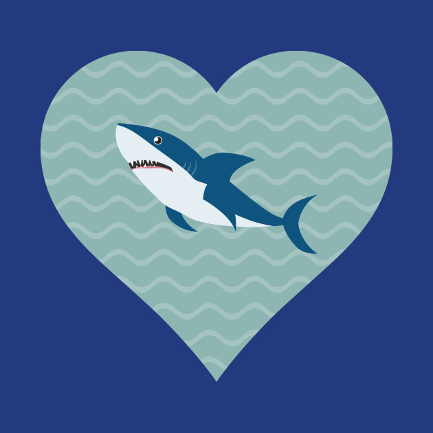 I Love Sharks Water Heart