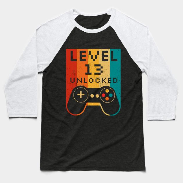 Level 13 Unlocked Official Teenager T-Shirt 13th Birthday Shirt