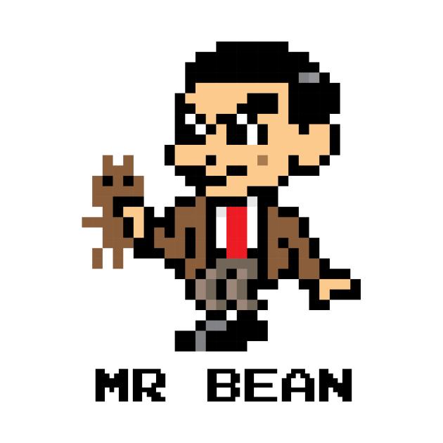 Mr Bean Pixel Character