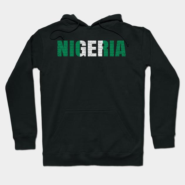 Nigeria text Hoodie Sweatshirt