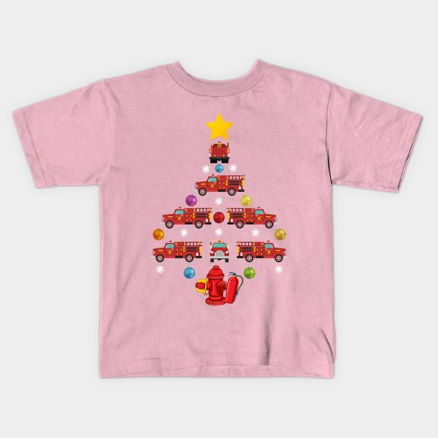 Firefighter Christmas Shirt.Funny Firefighter Christmas Tree
