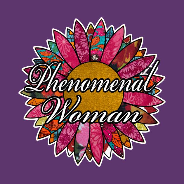 phenomenal woman retro flower