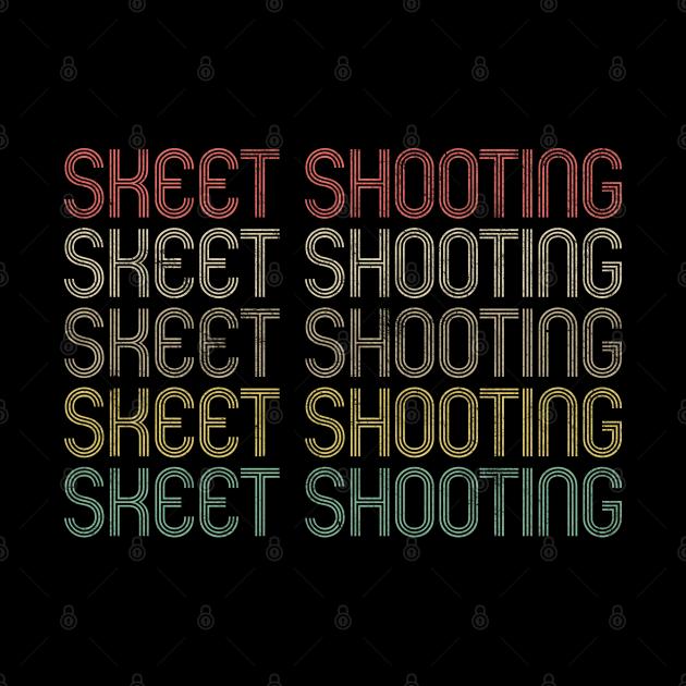 Retro Style Skeet Shooting Design