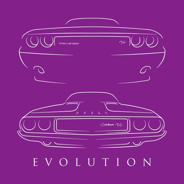 Evolution 1970 - Dodge Challenger R/T- front back