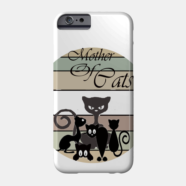 mother of cats best design gift , vinrage circle design gift , cute design cat Phone Case