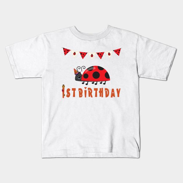 Ladybug T Shirt First Birthday Happy Tee